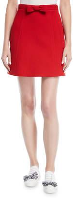 Miu Miu Bow-Front Mini Skirt