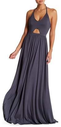Couture Go Halter Keyhole Maxi Dress