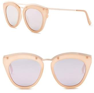 Le Specs Women's 52mm Modified Cat Eye Sunglasses