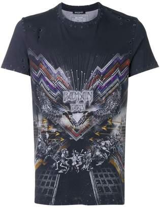 Balmain graphic print T-shirt