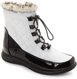 totes White Lisa Faux Fur Snow Boots
