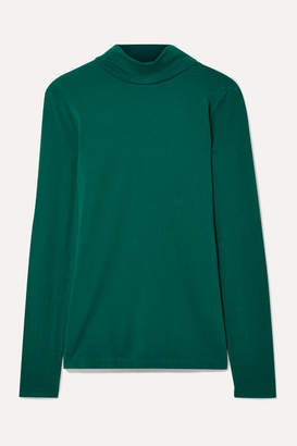 J.Crew Cotton-jersey Turtleneck Top - Emerald