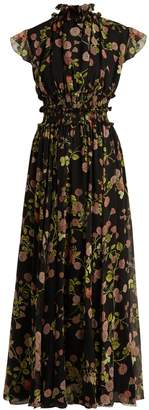 Giambattista Valli Ruffled floral-print silk-chiffon dress
