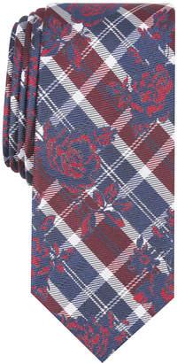 Bar III Men's Watson Plaid Floral Skinny Tie
