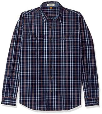Tailor Vintage Men's Highland Lake Indigo Plaid Shirt