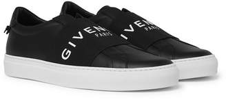 Givenchy Urban Street Logo-Print Leather Slip-On Sneakers - Men - Black