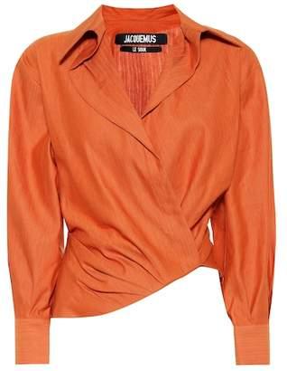 Jacquemus Sabah asymmetric shirt