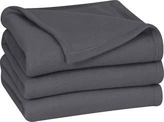 Utopia Bedding King Polar-Fleece Thermal Blanket Grey- Extra Soft Brush Fabric