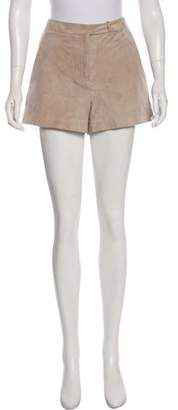 Halston Suede Mini Shorts