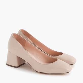 J.Crew Block-heel pumps in leather