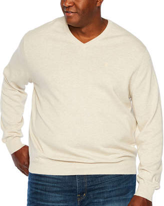 Izod Premium Essential V-Neck Sweater Long Sleeve Sweatshirt Big and Tall