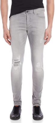 Diesel Grey Tepphar Slim-Carrot Fit Jeans