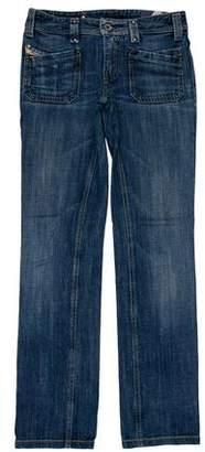 Diesel Keate Low-Rise Straight-Leg Jeans