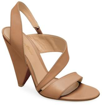 5af6c8700b59 Gianvito Rossi Strappy Leather Triangle Heel Sandals