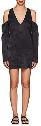 Amiri Women's Tie-Dyed Silk Minidress - Black