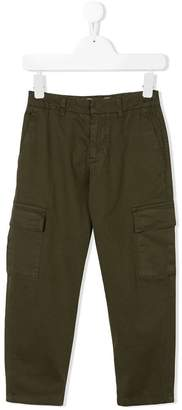 Dondup Kids straight-leg cargo trousers