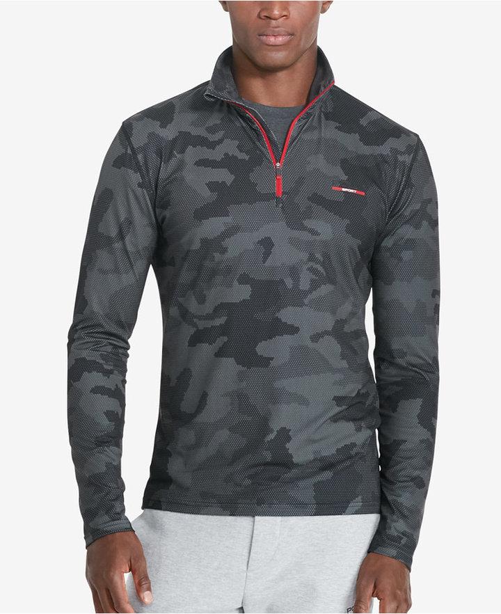 Polo Sport Men's Dark Camouflage-Print Stretch Pullover