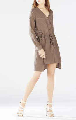BCBGMAXAZRIA Daya Rolled-Sleeve Shirt Dress