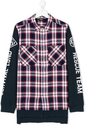 Diesel contrast plaid shirt
