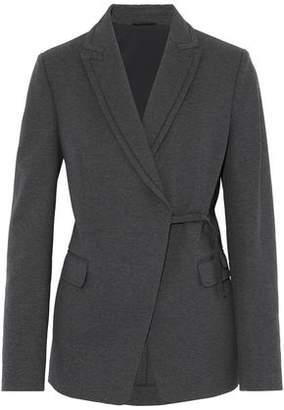 Brunello Cucinelli Bead-Embellished Cotton-Blend Jersey Blazer