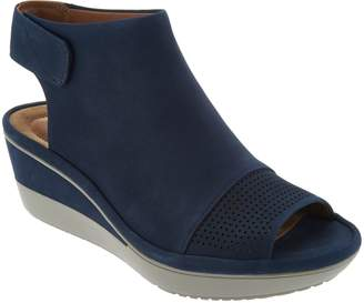 Clarks Peep Toe Wedge Sandals - Wynnmere Abie