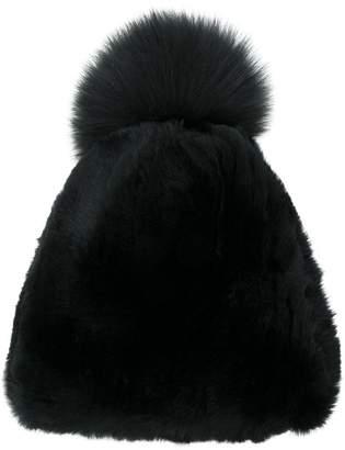 Liska fur bobble hat