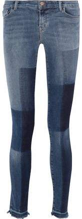 Reunion Patchwork Mid-Rise Skinny Jeans