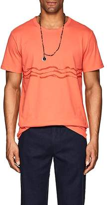 Onia Men's Wave-Print Cotton-Blend T-Shirt