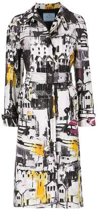 Prada (プラダ) - Prada printed trench coat