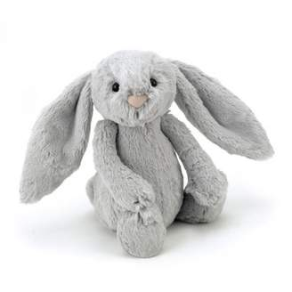 Jellycat Bashful the Bunny with big ears - grey