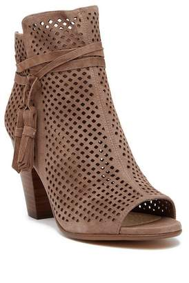Vince Camuto Kamey Perforated Suede Open Toe Bootie