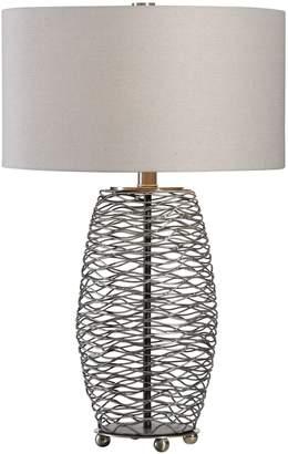 Uttermost Sinuous Wavy Steel Mesh Lamp
