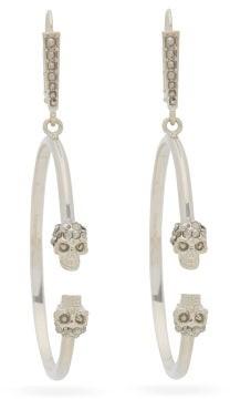 Alexander McQueen Double Skull Hoop Earrings - Womens - Gold