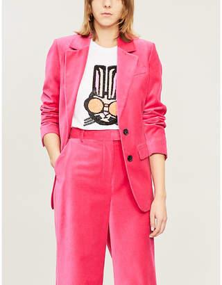 Markus Lupfer Alex Bunny-motif sequin-embellished cotton-jersey T-shirt