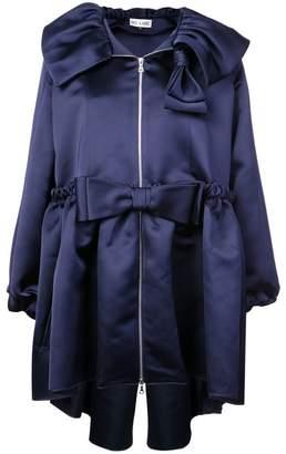 Dice Kayek bow detailed oversize coat