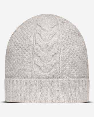 classic knitted beanie hat - Blue N.Peal Cl93W1