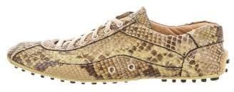 Prada Snakeskin Low-Top Sneakers