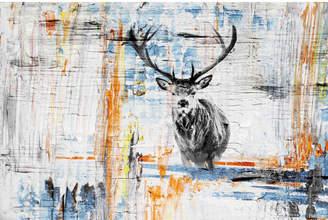 Parvez Taj Staring Deer Canvas Wall Art