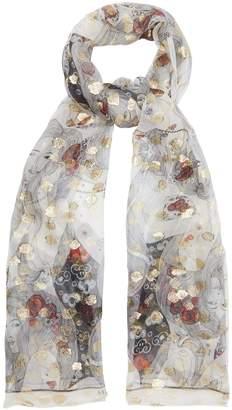 Alexander McQueen Printed fil coupé silk-chiffon scarf