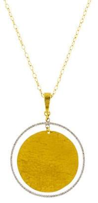 Gurhan Diamond Circle Geo Pendant Necklace