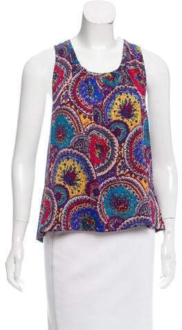 Marc by Marc Jacobs Printed Silk Top