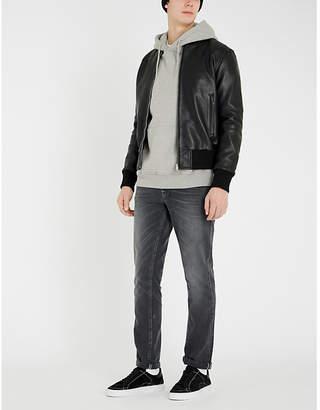 Sandro Monaco leather bomber jacket