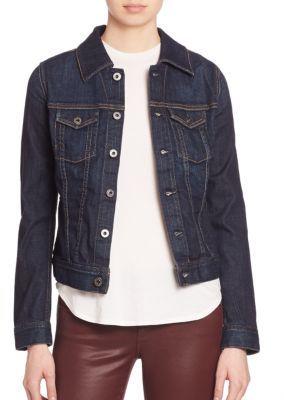 AG Robyn Contrast-Stitched Denim Jacket $205 thestylecure.com