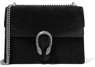 Gucci Dionysus Medium Suede And Leather Shoulder Bag - Black
