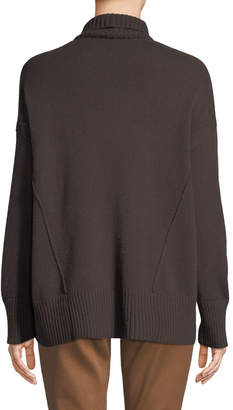 Lafayette 148 New York Oversized Turtleneck Cashmere Sweater