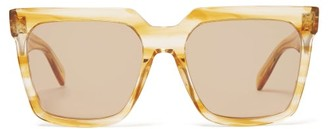 Celine Square Acetate Sunglasses - Womens - Beige Multi