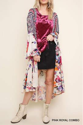 Umgee USA Floral Bell-Sleeve Kimono