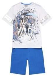 F&F Wild Beats Mesh T-Shirt And Shorts Set 10-11 years