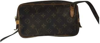 Louis Vuitton Vintage Marly Brown Cloth Handbag