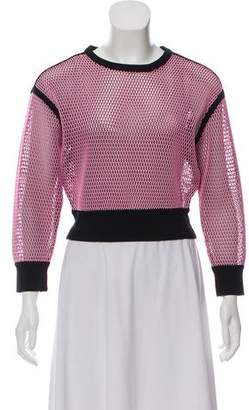 Ohne Titel Mesh Long Sleeve Top